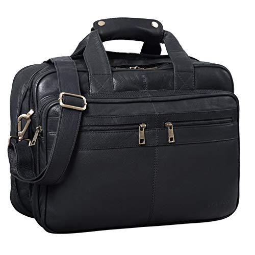 STILORD 'Alexander' Business Bag Men Leather Briefcase College Bag Shoulder Bag Satchel...