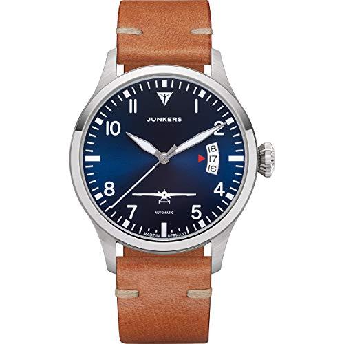 Junkers J1 Sonderedition Analog Automatik Uhr Lederarmband Saphirglas blau 9.00.00.01