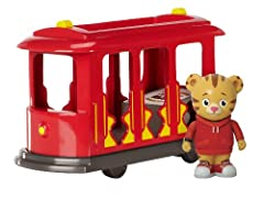 Trolley really moves! Simply pull it back and let it go for a ride around the neighborhood Includes one Daniel Tiger figure, with room for all of his friends (Friends sold separately) Open rooftop makes playtime a breeze, just the right size for litt...