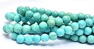 Jaipur Gems Mart Cuentas Redondas de Piedras Preciosas turquesas AAA + | Cuentas Lisas graduadas de 3 mm a 4,5 mm | Perlas...