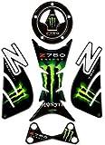 Stickers 3D de resina para moto Kawasaki Z 750 de 2007, color verde