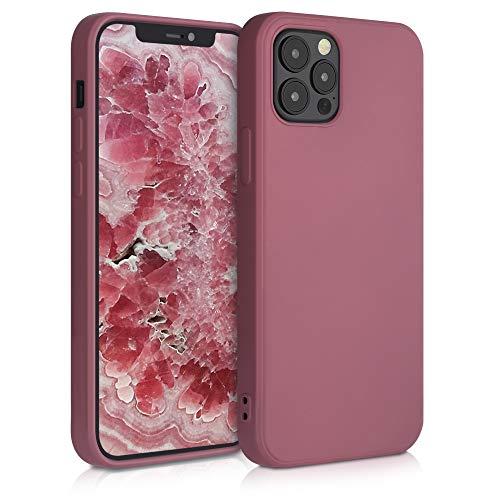 kwmobile Hülle kompatibel mit Apple iPhone 12/12 Pro - Handyhülle Handy Hülle in Deep Rusty Rose