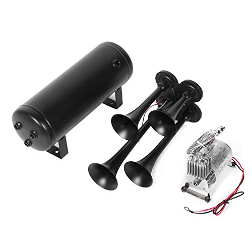 Train Air Horn Kit Shockproof Air Horn Unique for Practical accessory for Road Trips for Long‑distance Ride for Comfortable ride