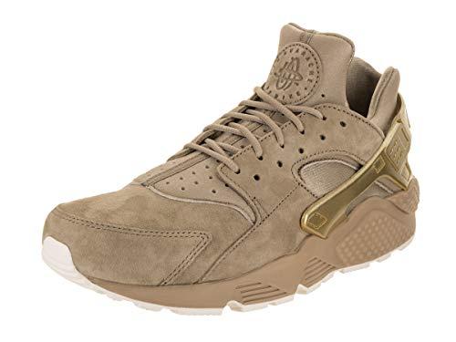 Nike Men's Air Huarache Run PRM Khaki/MTLC Gold Coin Sail Running Shoe 10.5 Men US