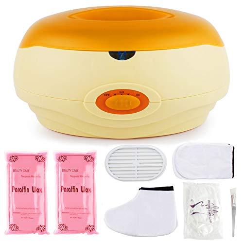 AYITOO Paraffinbäder Wachsbad für Hände und Füße mit Zubehör, Versorgt die Haut mit Feuchtigkeit Paraffin Wachsbad für Hände und Füße Gerät - Orange