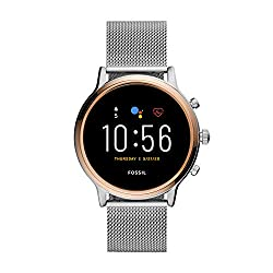 Image of Fossil Gen 5 Julianna Stainless Steel Touchscreen Smartwatch with Speaker, Heart Rate, GPS, NFC, and Smartphone Notifications: Bestviewsreviews