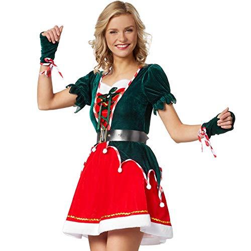 dressforfun 900846 Damen Elfen Kostüm, Wichtel Weihnachtself - Diverse Größen - (XXL | Nr. 303414)