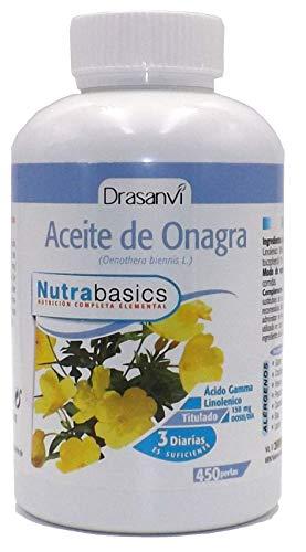 ACEITE DE ONAGRA 500 MG + VITAMINA E, 450 perlas, No GMO, Sin Gluten, No Contiene...