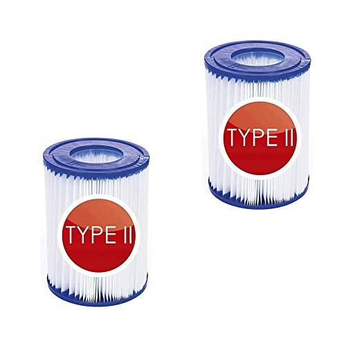 LALALAGOU - Cartuchos filtrantes de repuesto para Bestway Tipo II, filtro de...
