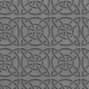 Cool Tools - Flexible Texture Tile - Celtic Squares - 4' X 2'