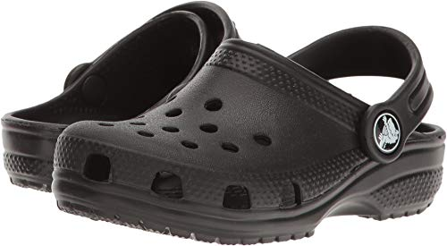 Crocs unisex child Classic   Slip on Shoes for Boys and Girls Water Shoes Clog, Black, 13 Little Kid US