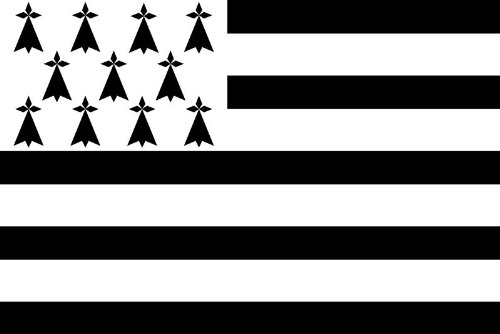 Michael & Rene Pflüger Barmstedt 8,4 x 5,4 cm Autoaufkleber Fahne der Bretagne Frankreich Flaggen Sticker Aufkleber fürs Auto Motorrad Handy Laptop
