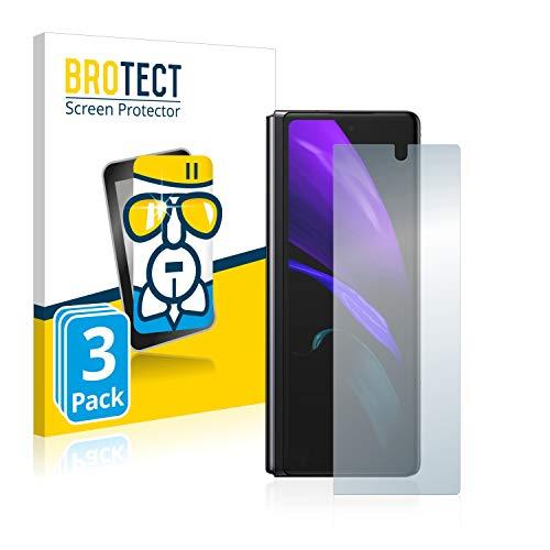 BROTECT Panzerglas Schutzfolie kompatibel mit Samsung Galaxy Z Fold 2 5G (3 Stück) - AirGlass, extrem Kratzfest, Anti-Fingerprint, Ultra-transparent