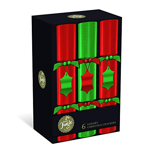 """6 Luxury Christmas Crackers - 6 Red and Green 14""""..."""