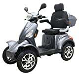 "Elektromobil ""VITA CARE 4000 Li"", 25 km/h, 50 Kilometer Reichweite, Lithium-Ionen Akku, Seniorenmobil, E-Roller, E-Scooter mit Straßenzulassung, Elektroroller, Grau"