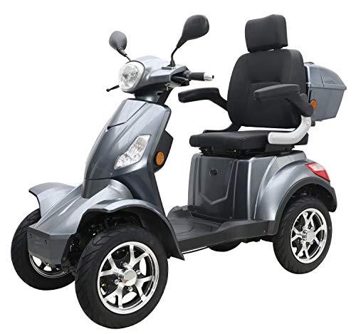 "Elektromobil ""VITA CARE 4000"", 25 km/h, 50 Kilometer Reichweite, Blei-Gel Akku, Seniorenmobil, E-Roller, E-Scooter mit Straßenzulassung, Elektroroller, Grau"