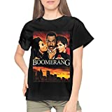 Womans Boomerang Movie Fashion Short Sleeve Top Shirt L Black