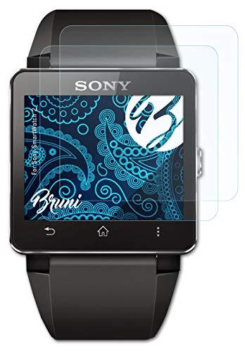 Bruni Schutzfolie kompatibel mit Sony SmartWatch 2 Folie, glasklare Bildschirmschutzfolie (2X)