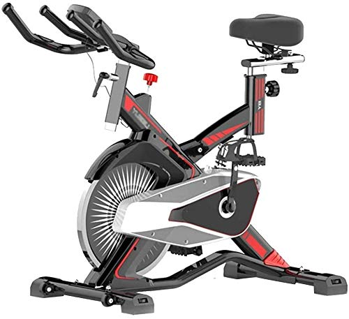 ZT Indoor Cycling Exercise Bike, Magnetic Spinning Bicycle with Heart Rate Monitor, Home & Gym Use Bicycle Sports Fitness Equipment Cardio Trainer