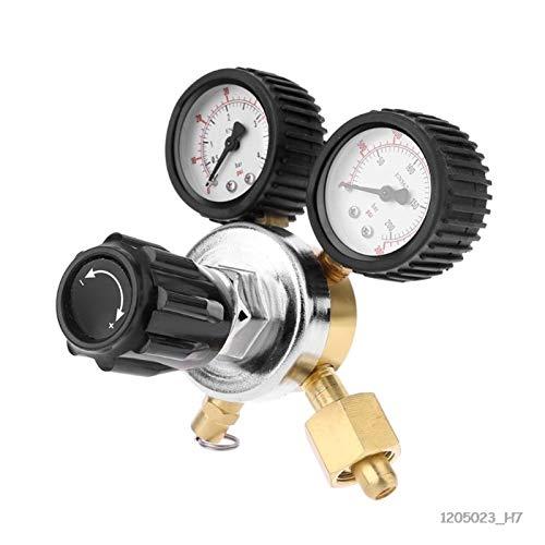 Fangaichen Regulador de la Cerveza de la Cerveza del regulador de CO2 regulador de dióxido de Carbono con válvula de Alivio de presión para el Reductor de presión de Gas Calibre Dual Suitable for Car