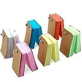 Natuce 498PCS Carte di Studio, 6 pacchi carta kraft 4 * 7cm, Multicolore Record di Cartelle Portatile Flashcards Vuoto Memo Scratch Notes Pads Cartoncino per Memorizzare delle Parole Vocabolario
