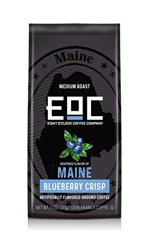 Eight O'Clock Coffee Flavors of America Ground Coffee, Maine Blueberry Crisp, 11 Ounce