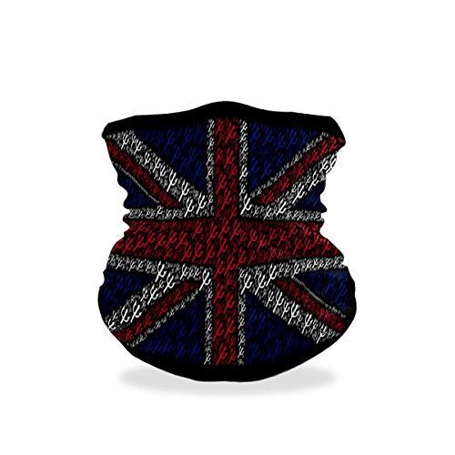 British Flag Creative Rice Flag Outdoor Multifunctional Sports Magic Scarf Headwear Elastic Headband Bandana UV Resistence Sport Headwear Turban Wide Headscarves Balaclava Tube for Camping,Cycling
