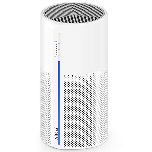 Afloia Air Purifier for Home with True HEPA 3 Stage Filter, Remove 99.9% Smoke, Odor, Pollen, Dust, Allergies and Pets in Bedroom, Quiet Air Cleaner with Night Light, MIRO