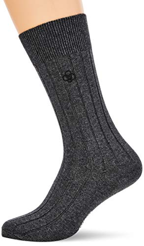Superdry Mens Casual Rib Sock 31-Underwear/Sleep, Charcoal Marl, S/M
