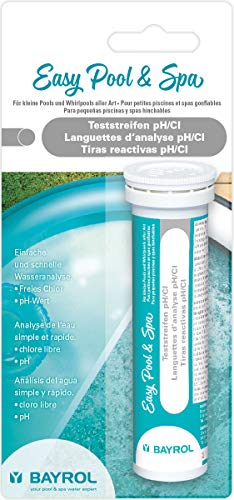 BAYROL Easy Pool & Spa Teststreifen Cl/Wassertester pH-Wert & freies Chlor, Weiß