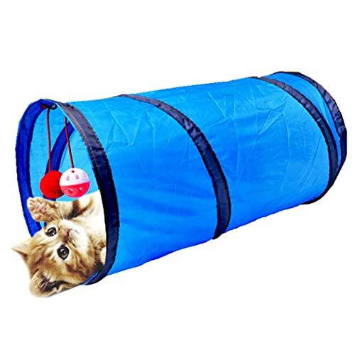 猫トンネル 猫 おもちゃ キャットトンネル 玩具 2個ベルボール付き 折りたたみ 収納便利 ハウス 猫ひとり遊び トレーニング ストレス発散 運動不足 対策