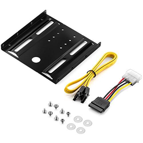 """deleyCON Telaio di Montaggio per Dischi Rigidi da 2,5"""" e SSD a Telaio Rimovibile Adattatore da 3,5"""" con Viti"""