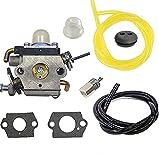 Shnile Carburetor Compatible with New Carburetor Husqvarna 122LDX 122C 122LK 22cc String Line Trimmer Carb Replace 574386701 581734301