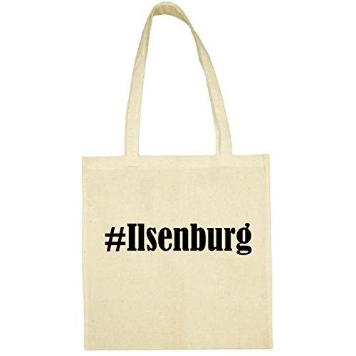 Tasche #Ilsenburg Größe 38x42 Farbe Natur Druck Schwarz