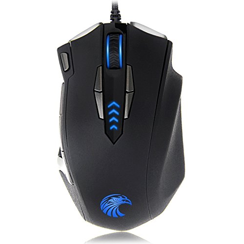 Burxoe Mouse Mice Z-7900 4000 DPI Metal Base MMO/FPS High Precision Optical Gaming Mouse