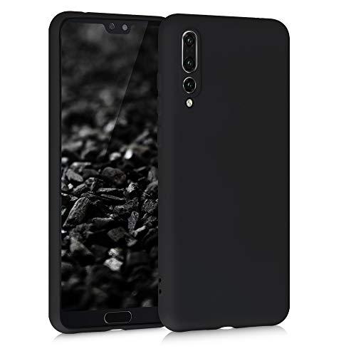 kwmobile Custodia Compatibile con Huawei P20 PRO - Cover Silicone Gommato - Back Case Protezione Posteriore Cellulare - Nero Matt