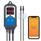 Inkbird WiFi ITC-306A Acuarios Temperatura Controlador, 1200W Termostato Digital con Double Sondas para Control...