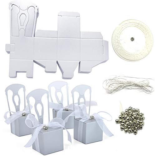 Aspire Wedding Favor Box Place Card Holders DIY Chair Party Favor Candy Box Small Gift Boxes-Silver Chairs-500