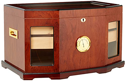 Prestige Import Group 300 Ct. High Gloss Lacquer Humidor w/ Beveled Glass