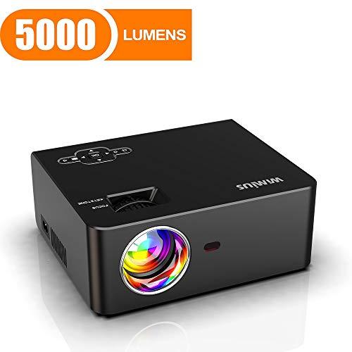 Find Bargain Mini Projector, WiMiUS 5000 Lumens Portable Video Projector, Full HD 1080P 200 Screen ...