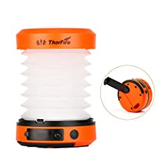✔ PORTABLE VERSATILE LIGHTS - These led lights can be used as flashlights or lanterns. Extended as a LED camping lantern; folded as a powerful mini flashlight, making it a portable multifunctional light. It's only 5.9 oz in weight, and foldable desig...