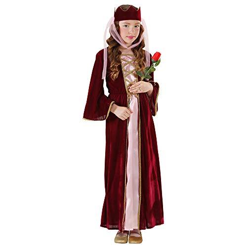 Widmann 12578 – Kinderkostüm Burgfräulein, mittelalterliche Königin, Kleid mit Kopfbedeckung in Größe 158 cm - 4