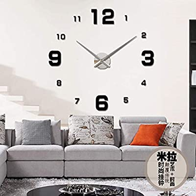 Horloge Murale DIY 3D Acrylic Mirror Large Wall Clock Digital Wall Clocks Saat Slient Reloj Pared