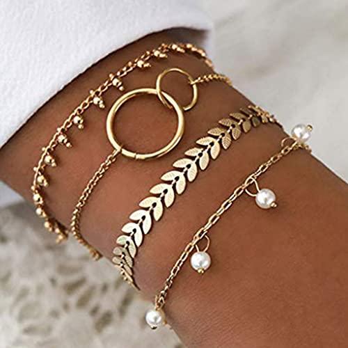 Branets Lot de 4 bracelets...