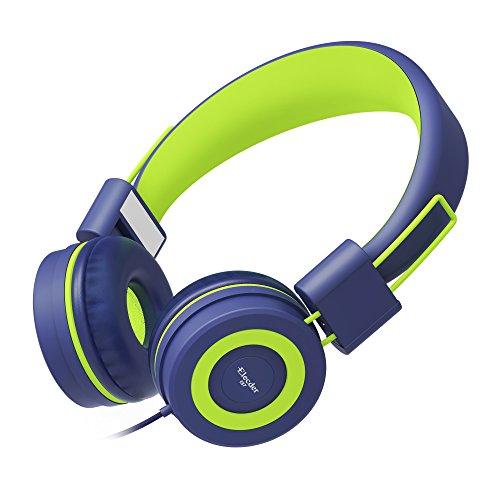 Elecder i37 Kids Headphones Children Girls Boys Teens Foldable Adjustable On Ear Headphones 3.5mm Jack Compatible Cellphones Computer MP3/4 Kindle School Tablet Navy