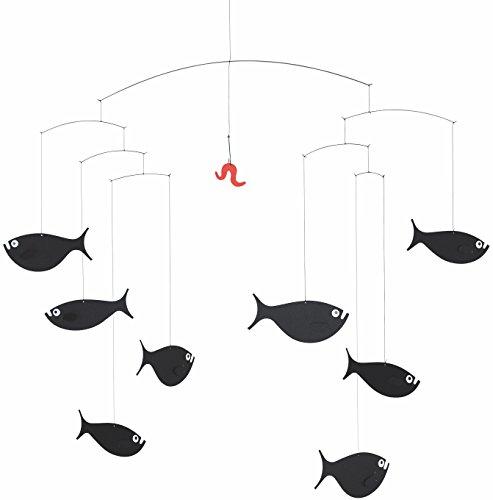 Flensted Mobiles Shoal of Fish Mobile, Stahl, Mehrfarbig, 45x60 cm