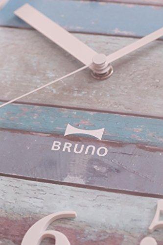 BRUNO電波ビンテージウッドクロックブルーBCR008-BL