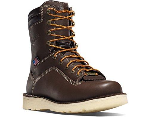 Danner Men's Quarry USA 8 Inch Wedge Work Boot, Brown, 10 D US