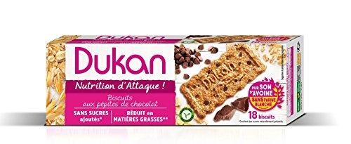 Dukan Diet Galletas de salvado de avena - chips de chocolate (37g) Pack de 3