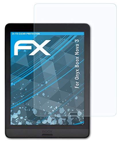 atFoliX Schermbeschermer compatibel met Onyx Boox Nova 3 Beschermfolie, ultra-helder FX Schermfolie (2X)